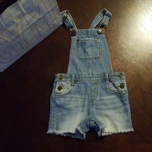 Gymboree toddler girl overalls.